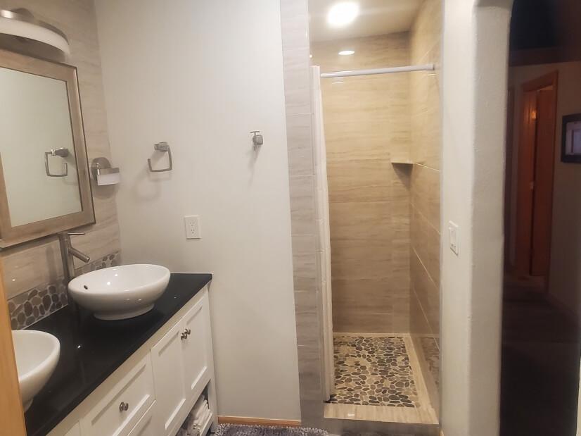 Master Bath Shower & Dual Sinks