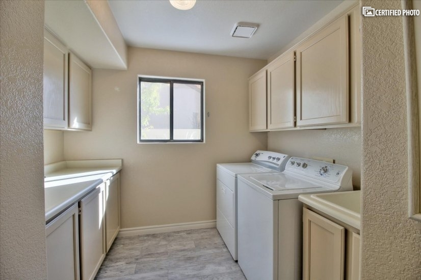 Laundry Room: Storage and Utility Sink