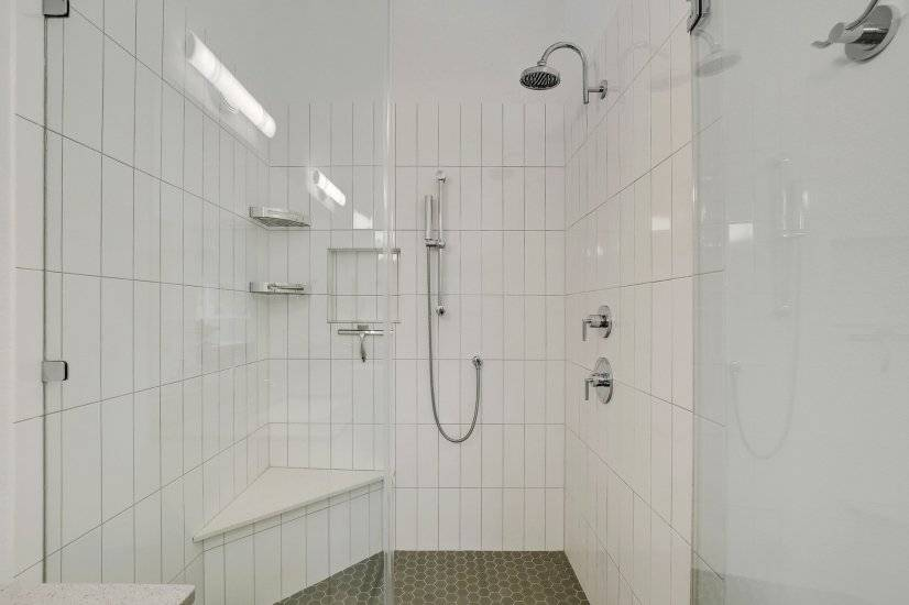 Deluxe rainfall shower paired with hand held