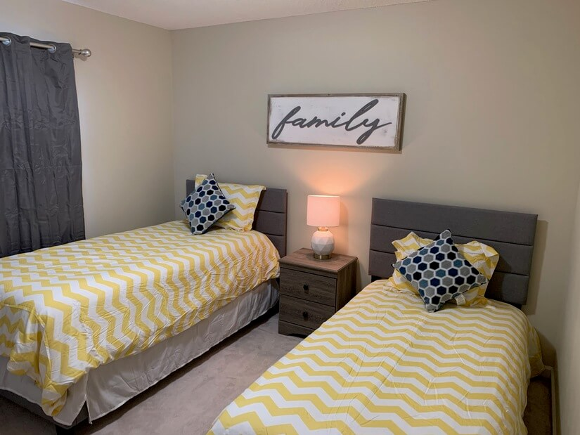 Bedroom #3 with Twin Beds