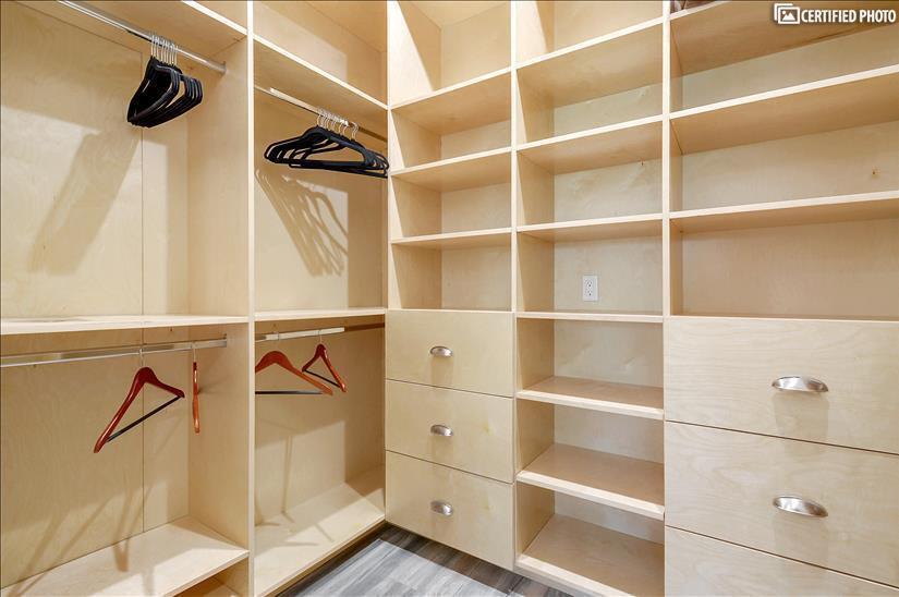Spacious walk in closet in master bedroom 1