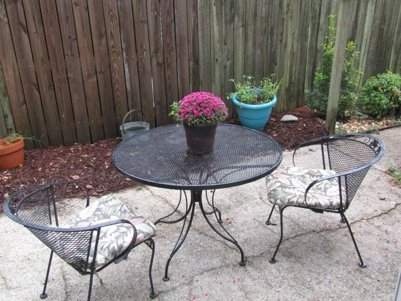 Outside patio and table.