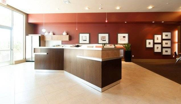 Amenities include dining, conference & media rooms.