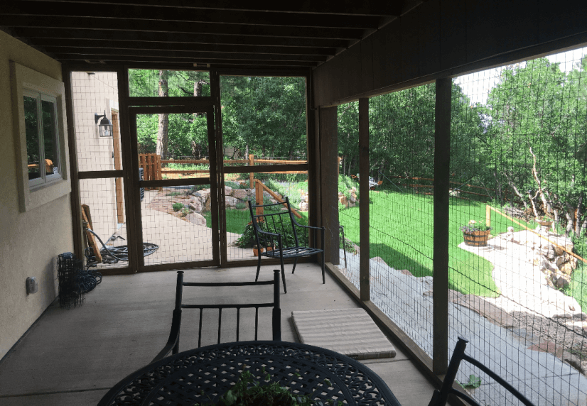 Lower Level Enclosed Patio View