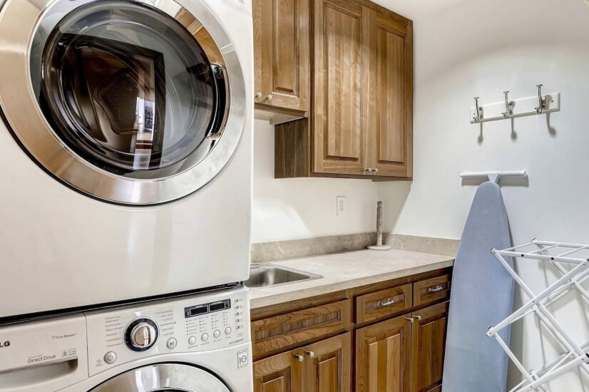 Stacked washer & dryer
