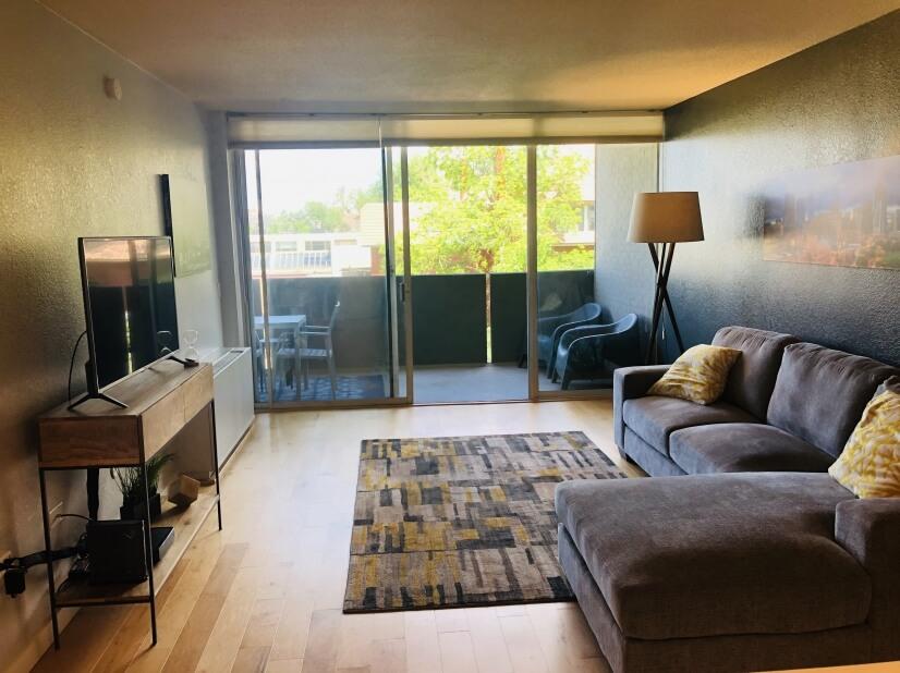 Bright sunny living room.