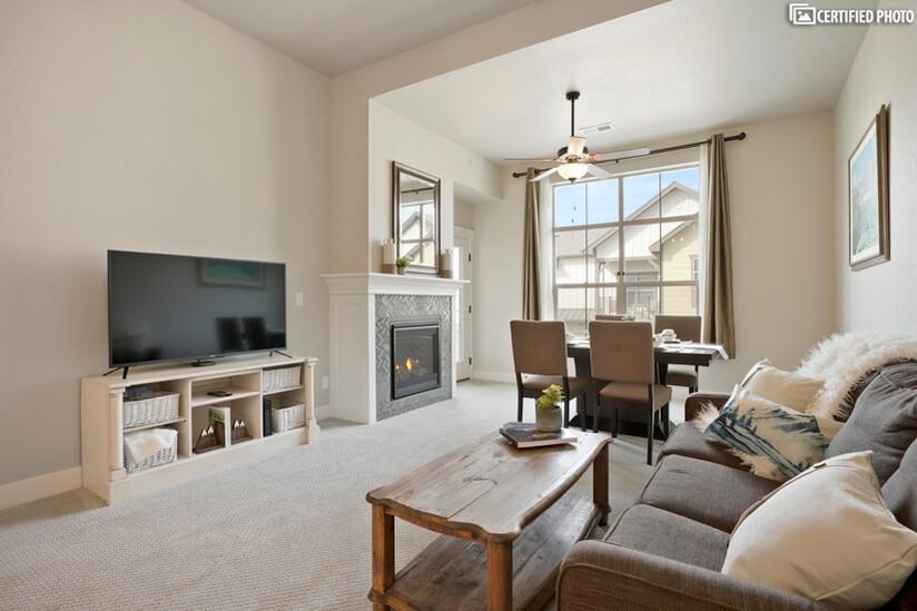 "Modern rustic furnishings throughout for ""ski home"" feeling!"