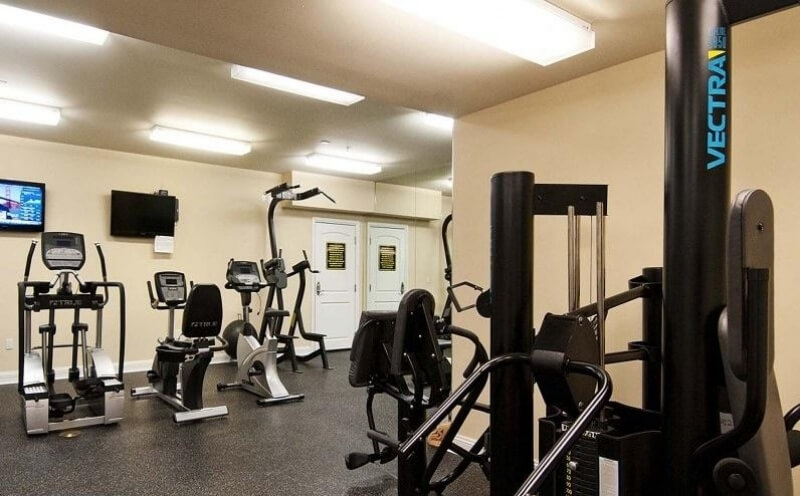 State-of-the-art exercise room