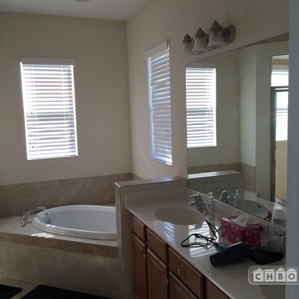 Master Bathroom tub and sinks