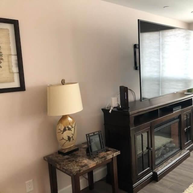 "Fireplaces, 70"" Flat screen TV's"