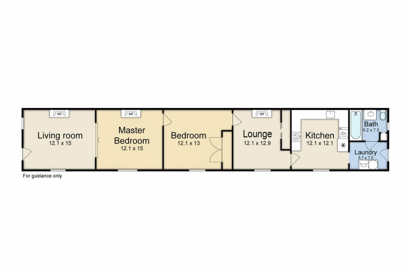 Floor plan...1000 square feet of living space!