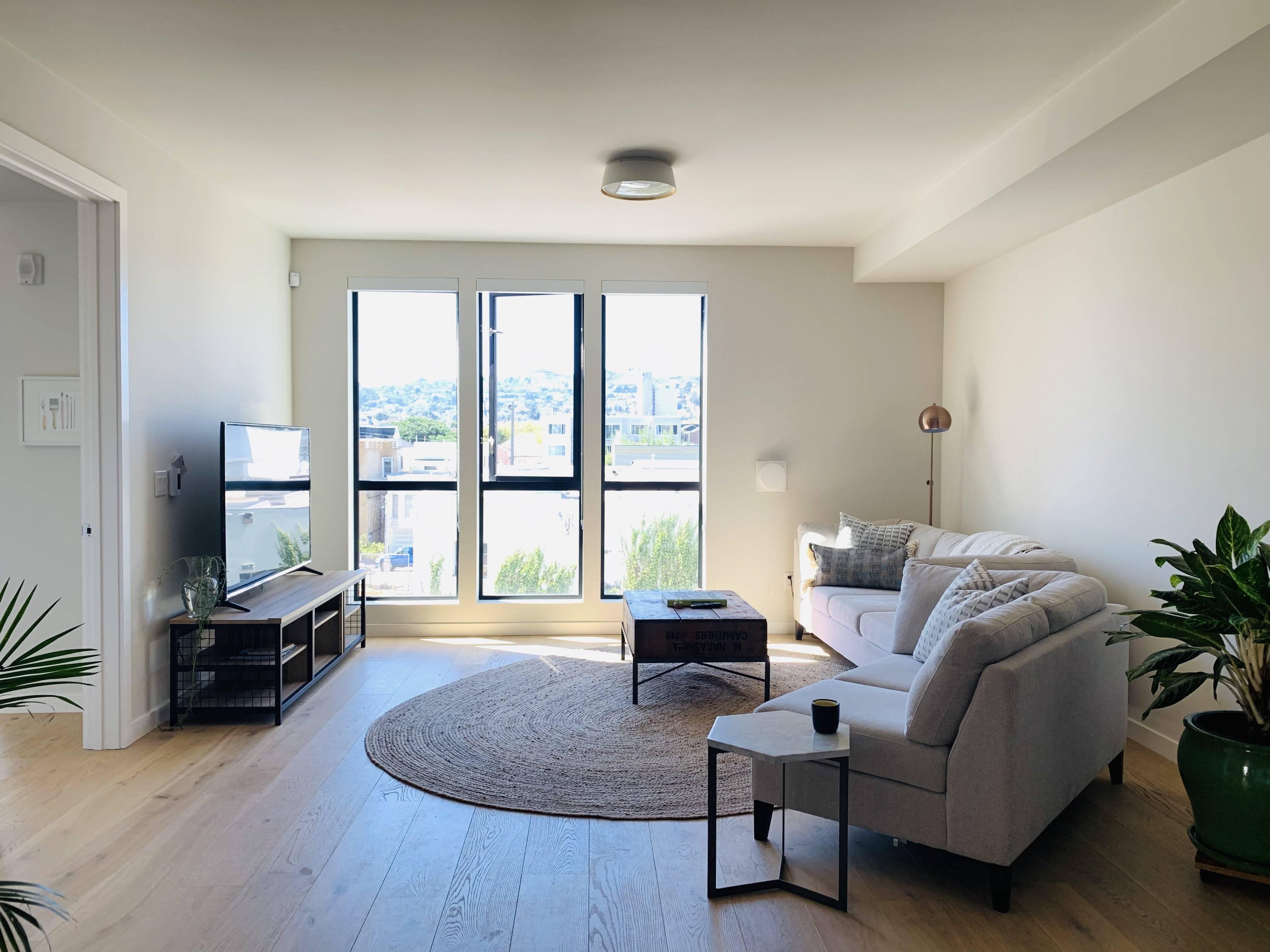 "65"" 4K UHD TV & Apple TV in Living Room"