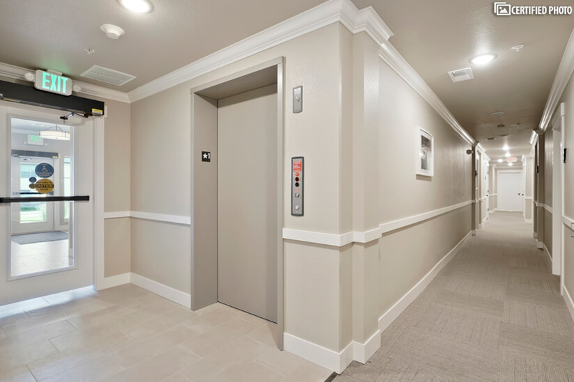 Accessible condo building with elevator as well as stairs