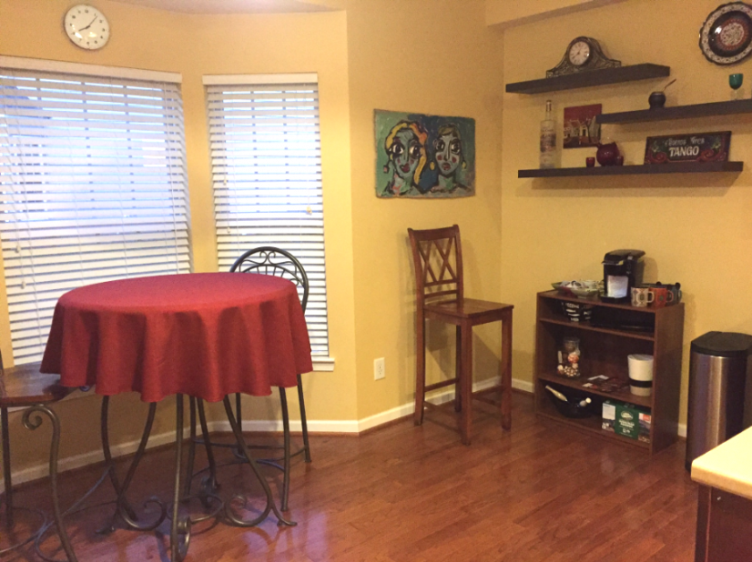 Breakfast nook with coffee station