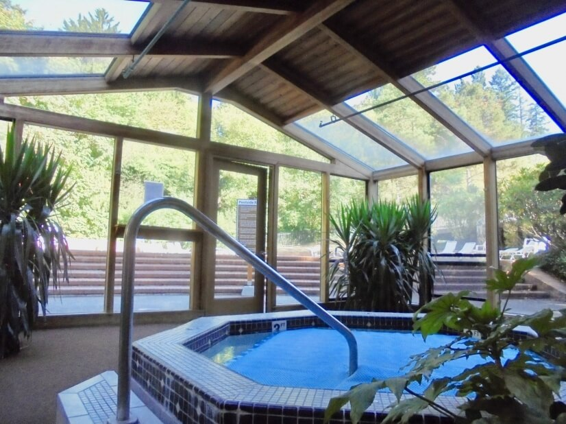 Spa is enclosed
