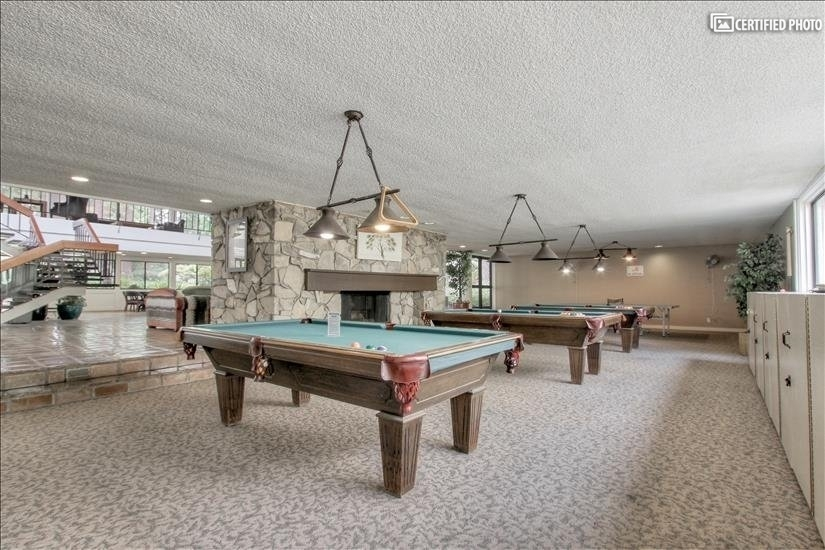 Enjoy pool tables and ping-pong in the club house.