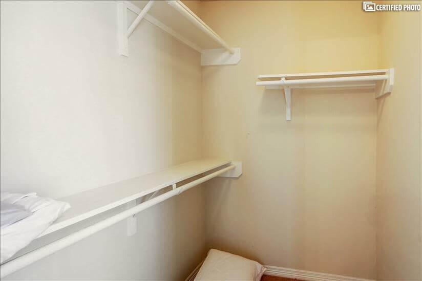 Bedroom 3's large walk in closet