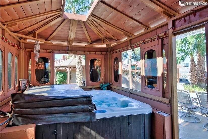 Hot tub gazebo in common area