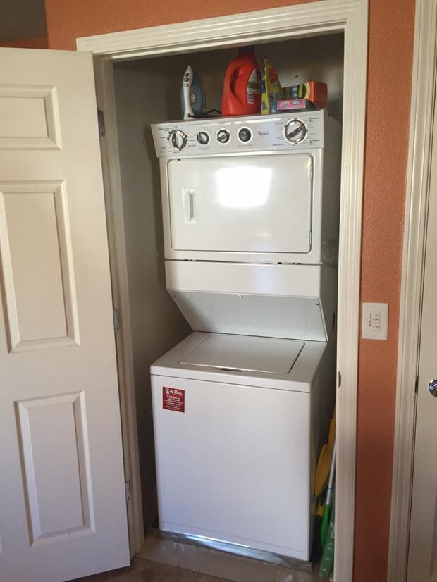 In suite washer/dryer