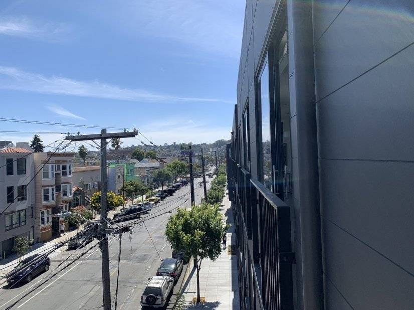 View of Bernal Heights from balcony