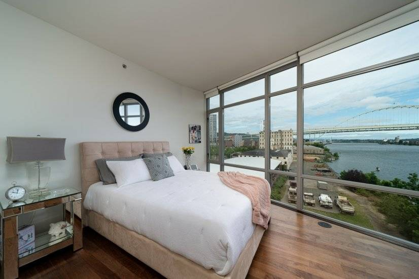 Guest bedroom offers a retreat from the city