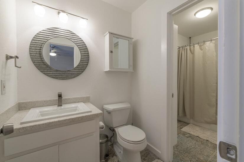 Master Bath with shower/bath in background