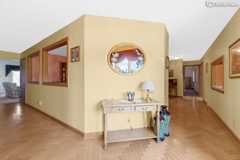 Hall way to Living and Dinning rooms
