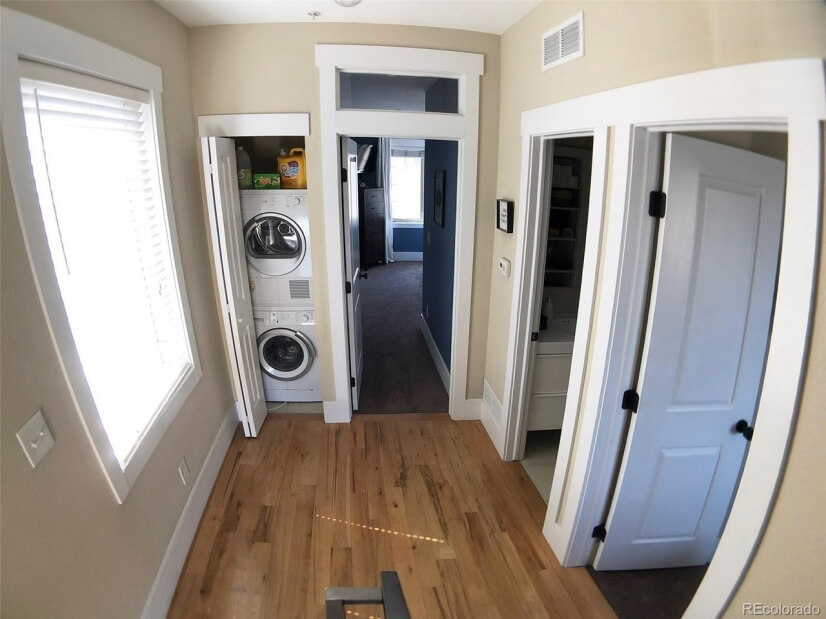 2nd Floor Hall with Washer & Dryer