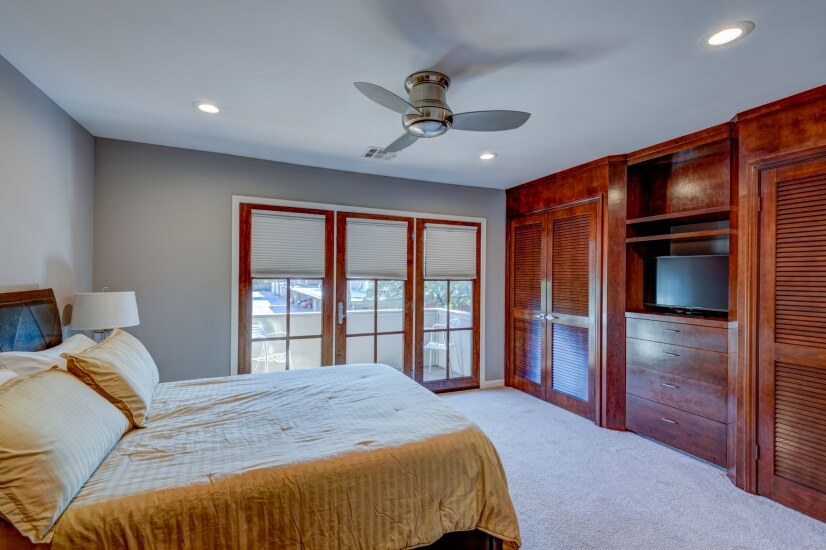 Front Bedroom With Custom Wardrobe Cabinets