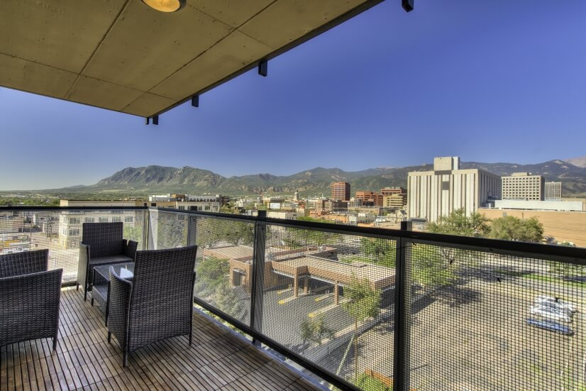 west side balcony, Cheyenne Mtn Views