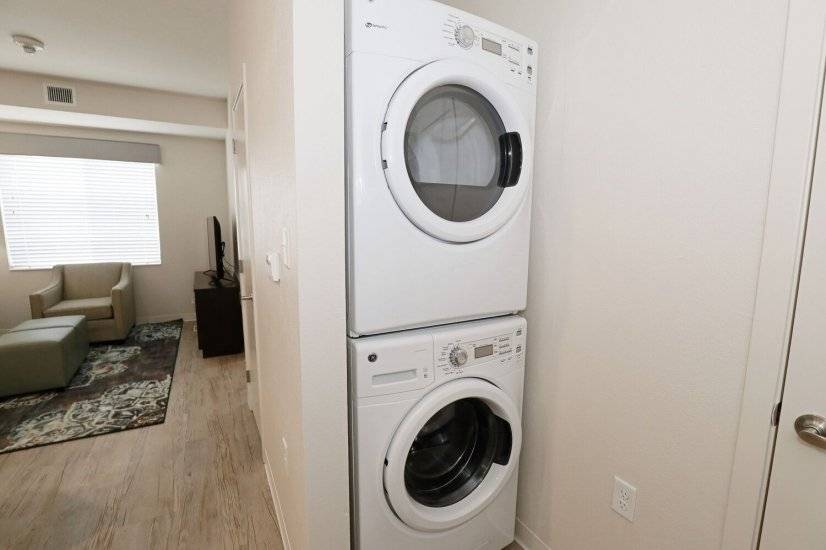 Washer and dryer in each suite!