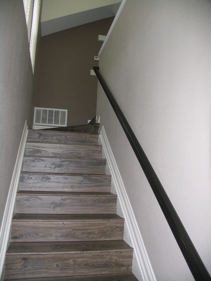 Interior stairs from private entrance