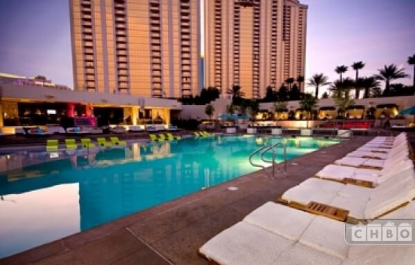 One of the many pools available to swim or lounge at on the