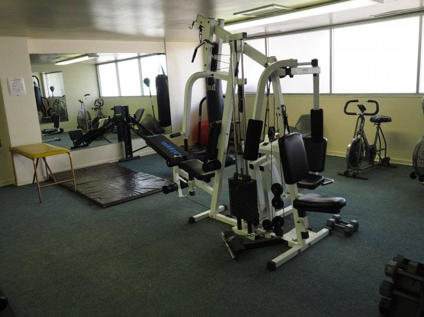 Full exercise room in building