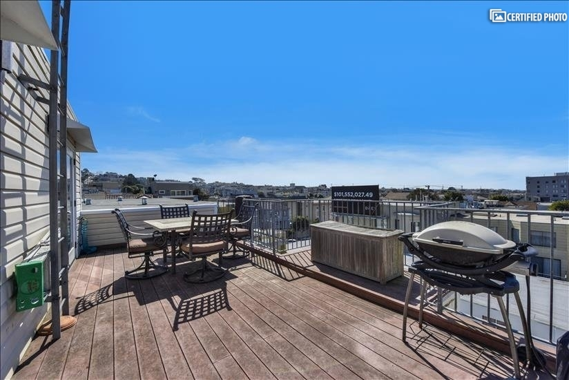 Deck with Access from MBR or Media Room; ocean view in dist