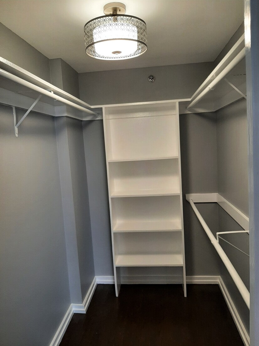 Closet space with room for suitcases!
