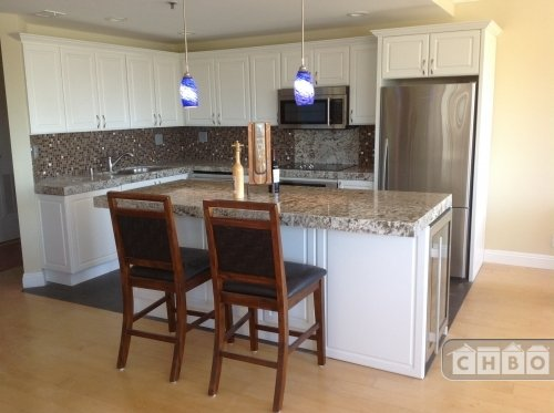 Beautiful  Stainless Kitchen with 7 foot GRANITE island