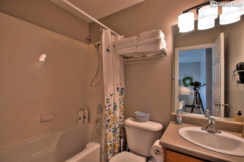Master Bathroom with tub and shower combo