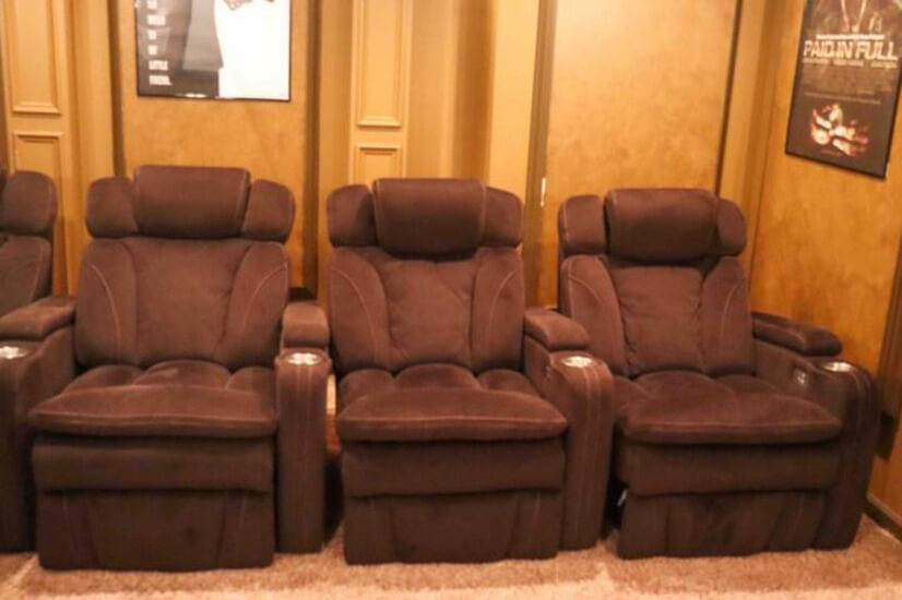 4 theater seats recliner with usb charge