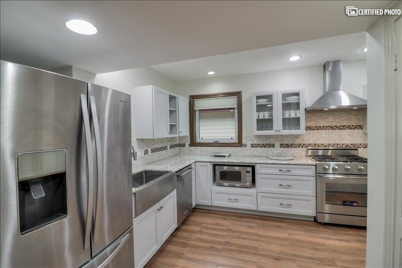 Kitchen - completely remodeled with high end appliances.