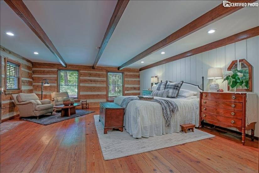 Beautifully renovated Master Bedroom on the main floor.