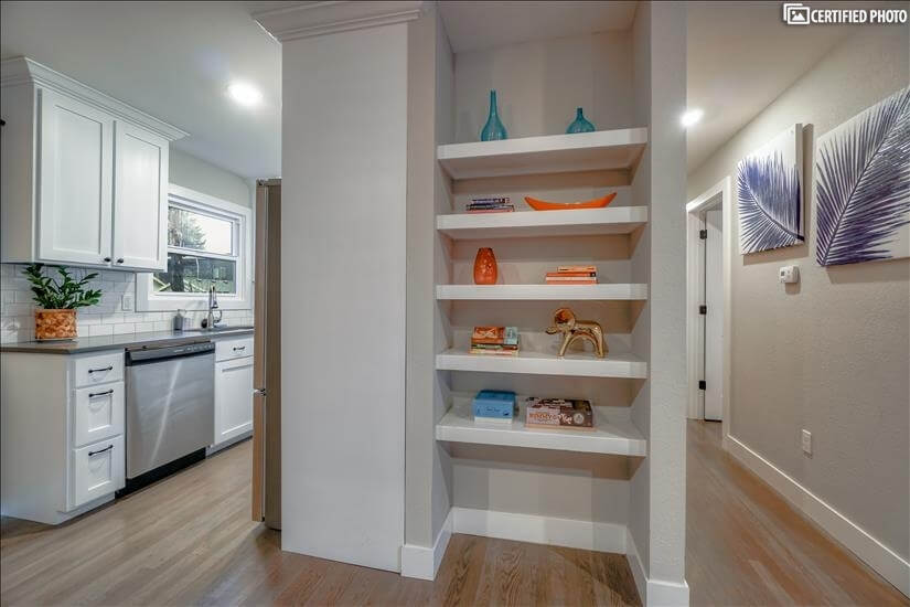 Built-in shelving
