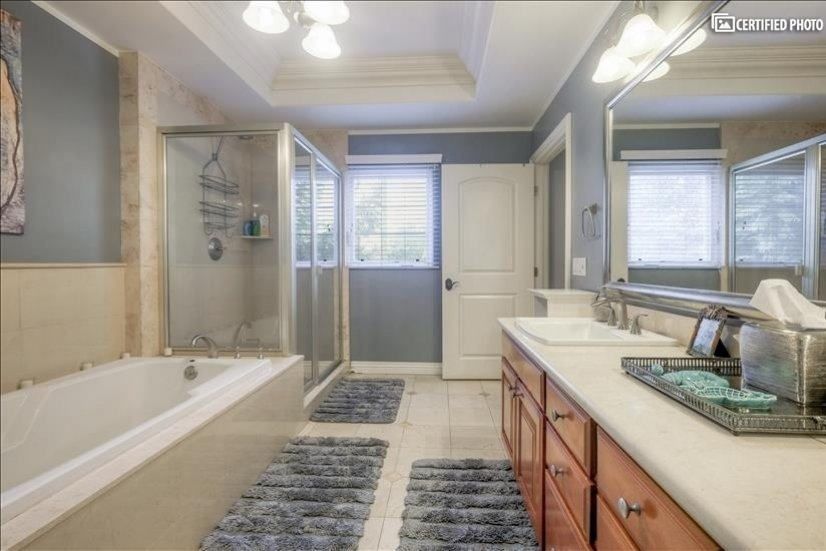 Master Bathroom 4 with Bath, Shower and Double Sinks