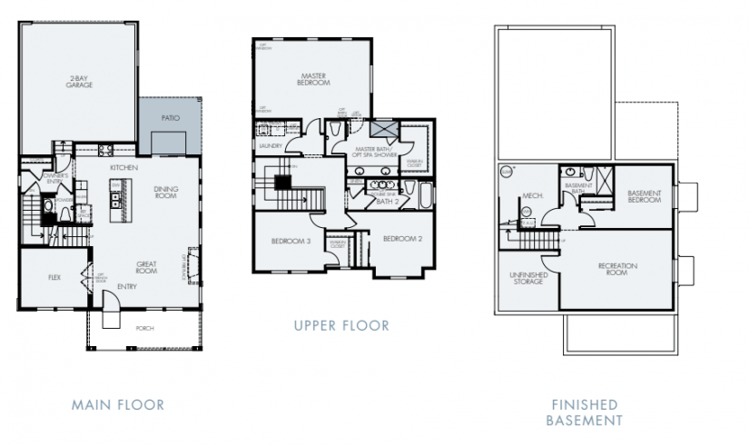 Floor Plan with attached two car garage