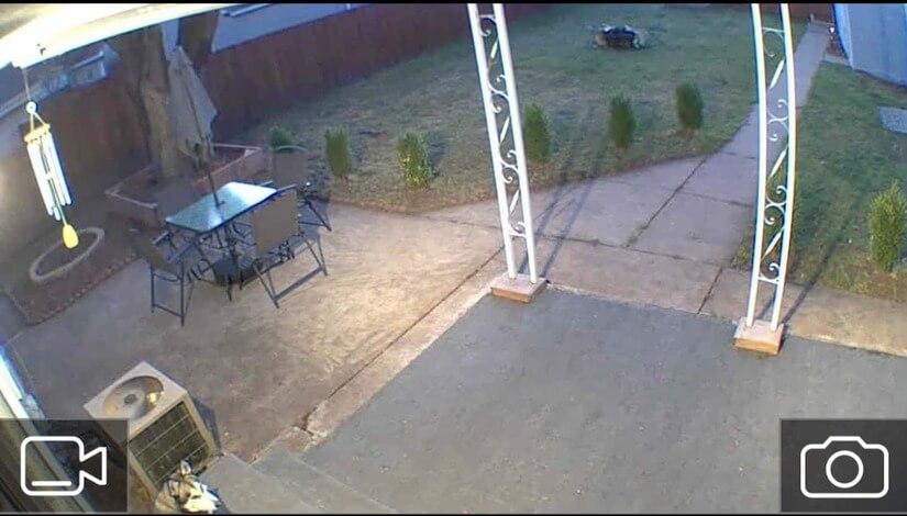 Exterior Security Camera - backyard