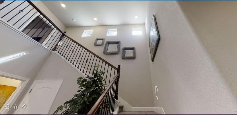 high ceiling entry way