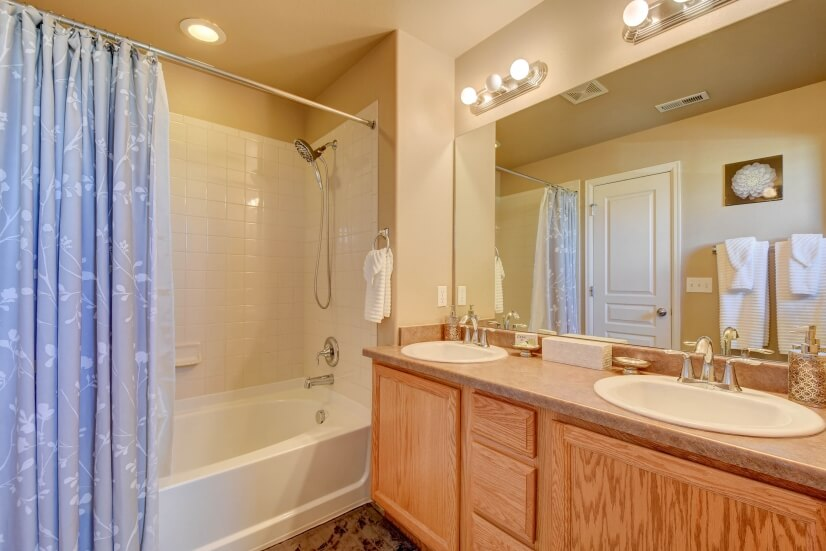 Master bath with tub.