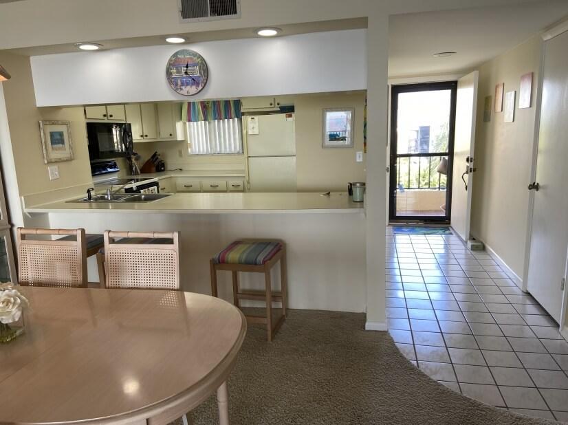 Front Door/ kitchen area.
