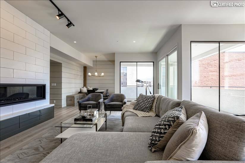 Living room looking East