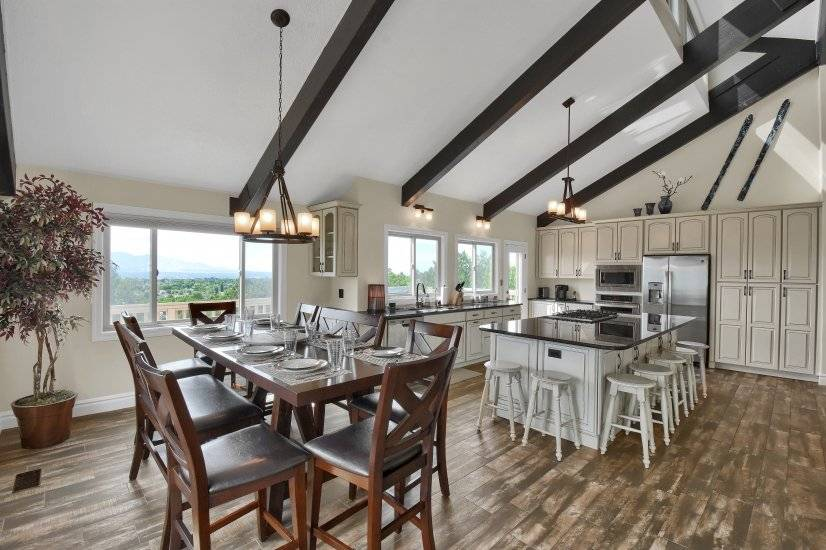 Dining Area enjoys the View over Salt Lake Valley